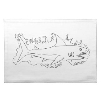 Shark Water Side Drawing Placemat