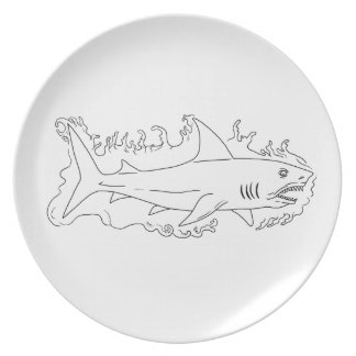 Shark Water Side Drawing Plate