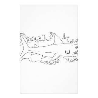 Shark Water Side Drawing Stationery