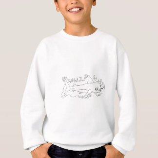 Shark Water Side Drawing Sweatshirt