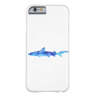 Shark Watercolor Silhouette Dye Teal Blue Aqua Barely There iPhone 6 Case
