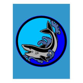 Shark Waves Postcard