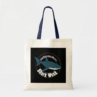 Shark week tote