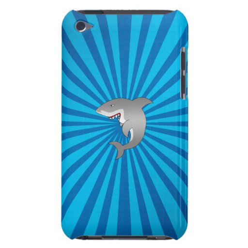 Shark with blue sunburst barely there iPod covers