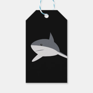 shark wrapping gift tags