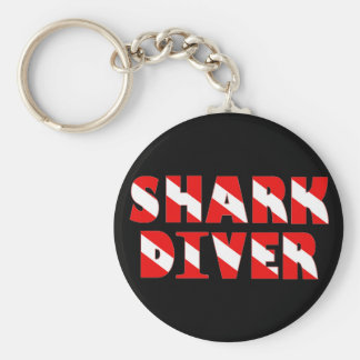 sharkdiver copy basic round button key ring