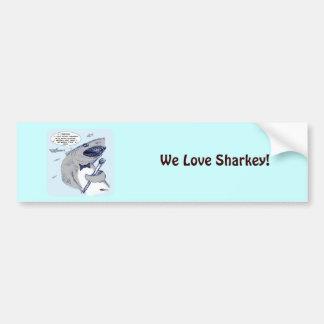 Sharkey Finatra Swimmin' Bumper Sticker