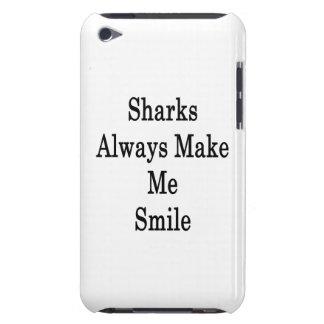 Sharks Always Make Me Smile iPod Case-Mate Case