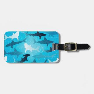 sharks! bag tag