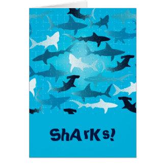 sharks! card