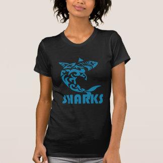 Sharks Contemporary Swirl Design T-Shirt