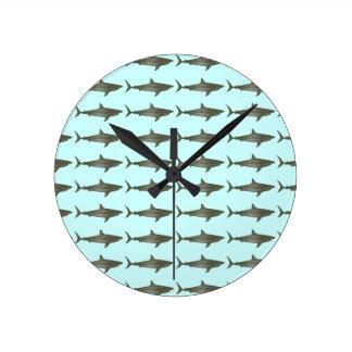 Sharks cool pattern clock