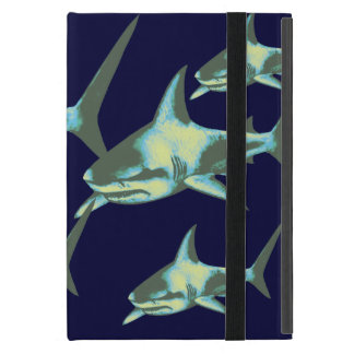 sharks in deep blue cover for iPad mini
