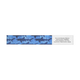 Sharks in the Deep Blue Sea Wraparound Address Label