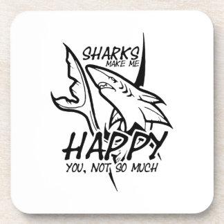Sharks Make Me Happy Funny Coaster