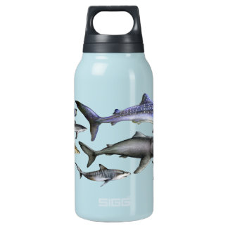 Sharks of the World Insulated Water Bottle