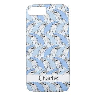 Sharks Pattern custom name phone cases