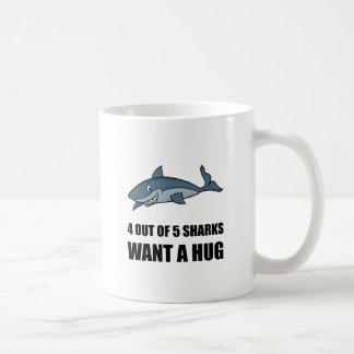 Sharks Wants Hug Coffee Mug