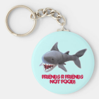 sharky basic round button key ring