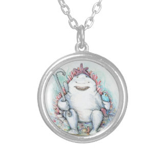 Sharky Silver Plated Necklace