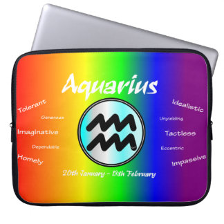Sharnia Aquarius Laptop Sleeve (Rainbow)