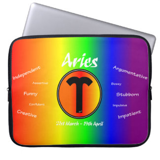 Sharnia Aries Laptop Sleeve (Rainbow)