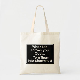 Sharnia's Coal Diamonds Quote Bags (Blk)