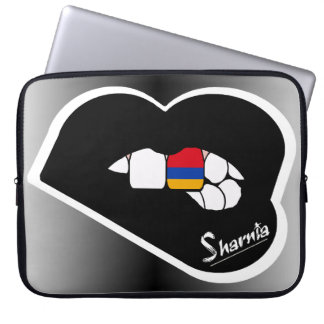 "Sharnia's Lips Armenia Laptop Sleeve 15"" Blk Lips"
