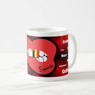 Sharnia's Lips Belgium Mug (RED Lip)