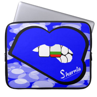 "Sharnia's Lips Bulgaria Laptop Sleeve 15"" Blue Lip"