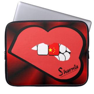 Sharnia's Lips China Laptop Sleeve (Red Lips)
