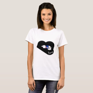 Sharnia's Lips Cuba T-Shirt (Black Lips)