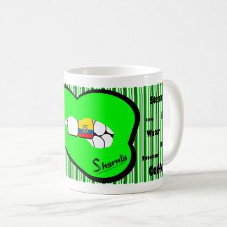 Sharnia's Lips Ecuador Mug (GREEN Lip)