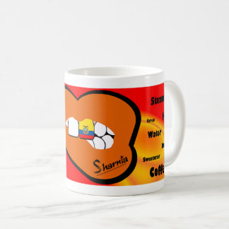 Sharnia's Lips Ecuador Mug (ORANGE Lip)