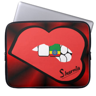 Sharnia's Lips Ethiopia Laptop Sleeve (Red Lips)