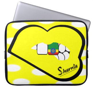 Sharnia's Lips Ethiopia Laptop Sleeve (Yell Lips)