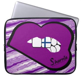 Sharnia's Lips Finland Laptop Sleeve (Purple Lips)