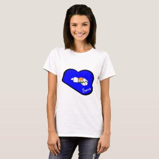Sharnia's Lips India T-Shirt (Blue Lips)