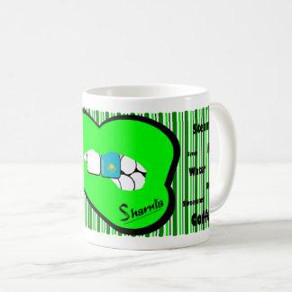 Sharnia's Lips Kazakhstan Mug (GREEN Lip)