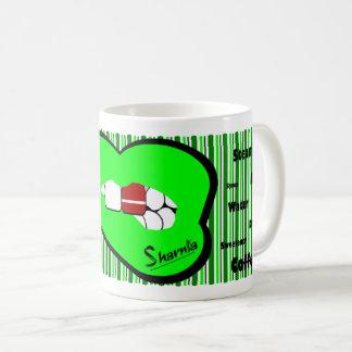 Sharnia's Lips Latvia Mug (GREEN Lip)