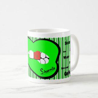 Sharnia's Lips Morocco Mug (GREEN Lip)