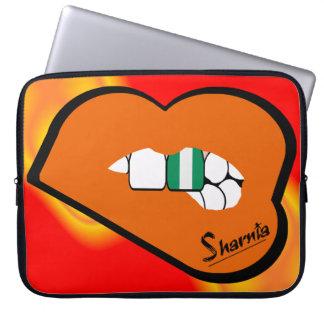 Sharnia's Lips Nigeria Laptop Sleeve (Orange Lips)