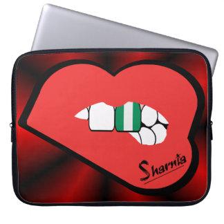 Sharnia's Lips Nigeria Laptop Sleeve (Red Lips)