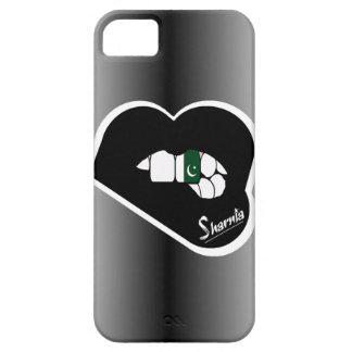 Sharnia's Lips Pakistan Mobile Phone Case Blk Lip