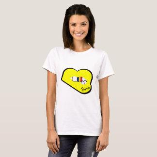 Sharnia's Lips Romania T-Shirt (Yellow Lips)