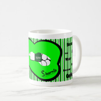 Sharnia's Lips Saudi Arabia Mug (GREEN Lip)