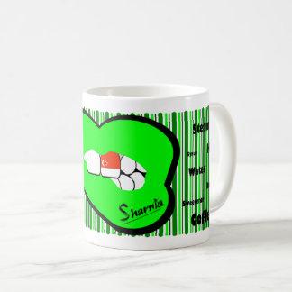 Sharnia's Lips Singapore Mug (GREEN Lip)