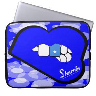 "Sharnia's Lips Somalia Laptop Sleeve 15"" Blue Lips"