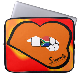 Sharnia's Lips South Africa Laptop Sleeve Ornge LP