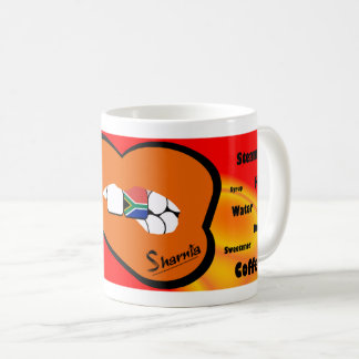 Sharnia's Lips South Africa Mug (ORANGE Lip)